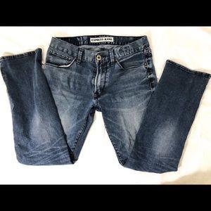 Express straight leg jeans